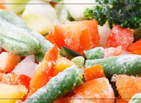 Alimentos que não devem ser congelados.