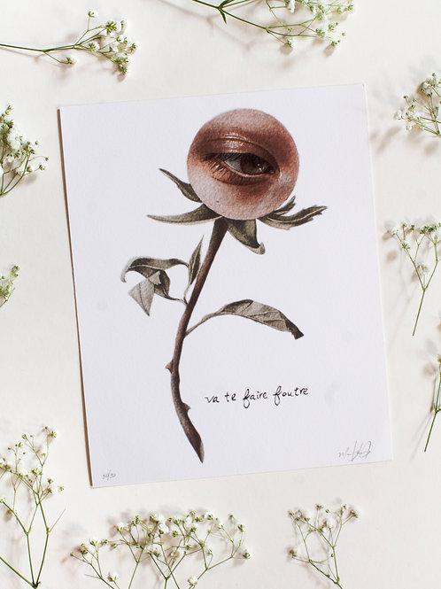Eye Flower Print 8x10