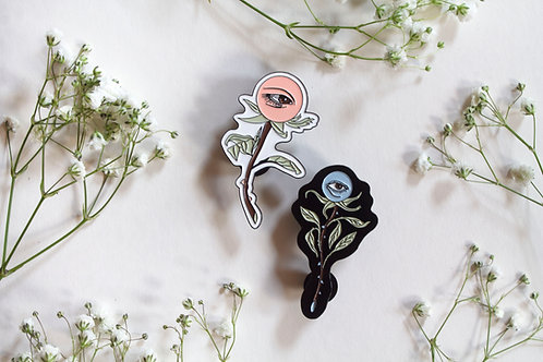 Eye Flower Pin Set