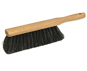 beaver tail brush for dusting off concrete