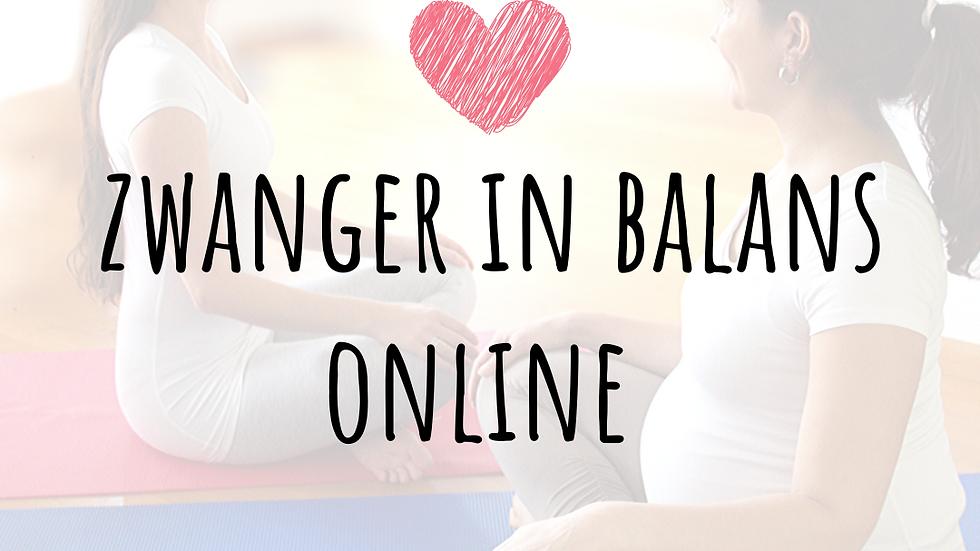 Zwanger in Balans ONLINE