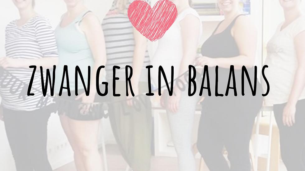 Zwanger in Balans start 2 maart
