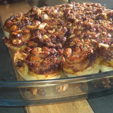 Vegan sticky Kaneelbroodjes... Jammie!
