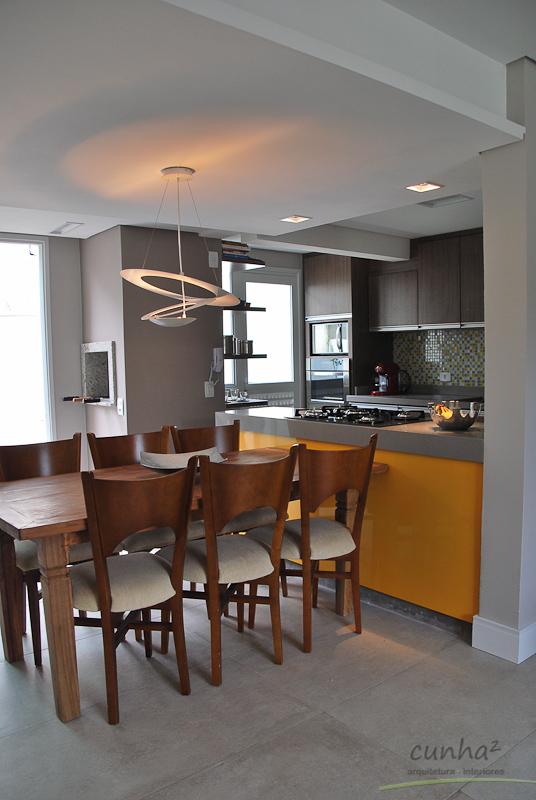 integração lounge/cozinha