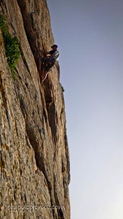 Rock climbing in Cyprus