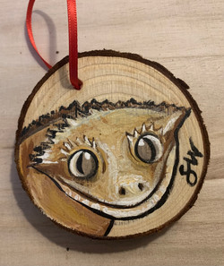 crested gecko ornament