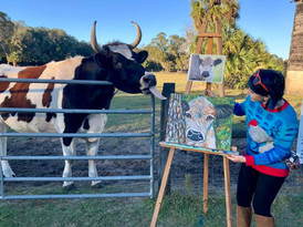 Live Painting at Critter Creek Sanctuary