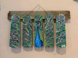 Peacock fan blade set