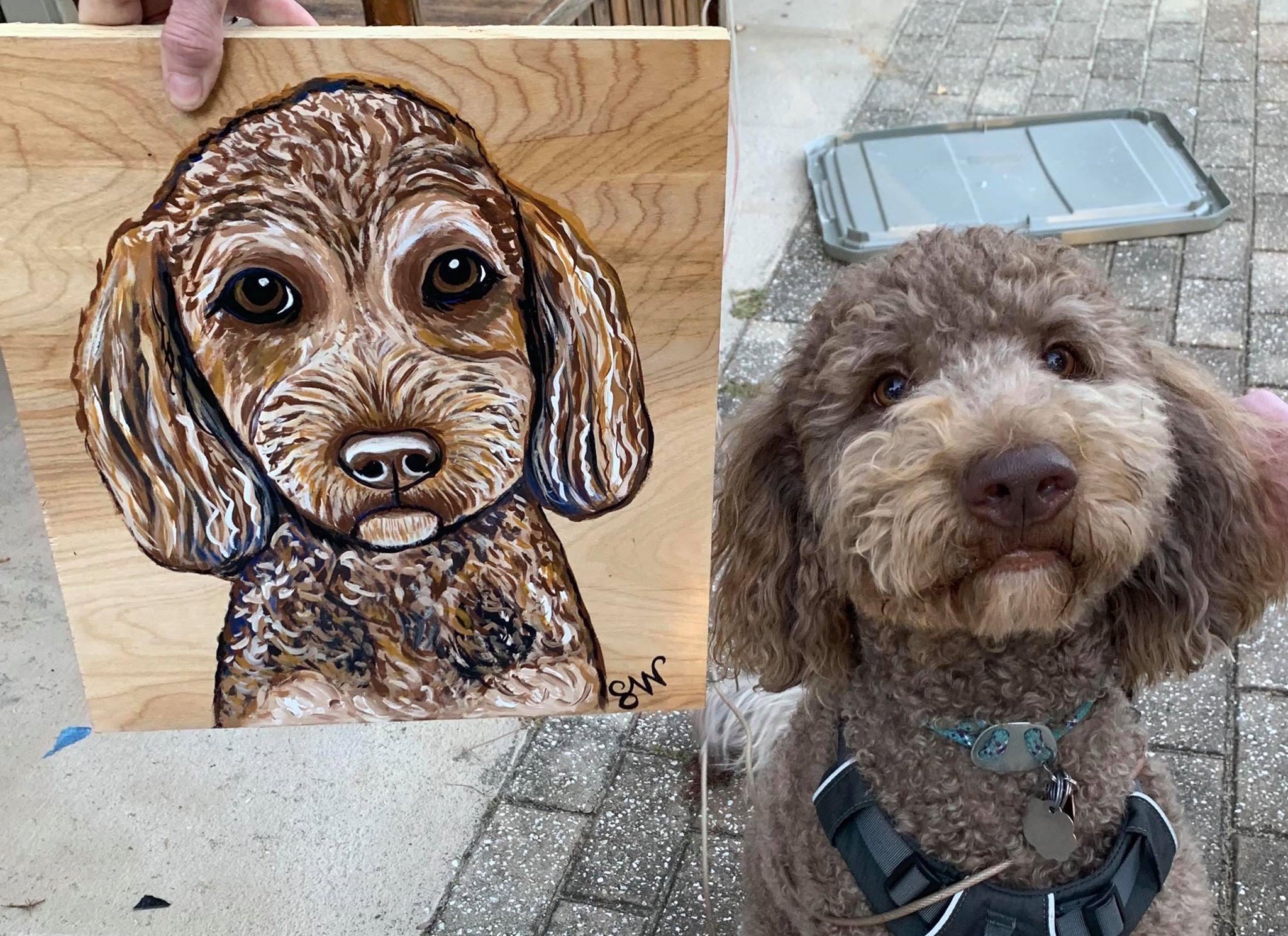 Hadley Doodle Custom Pet Portrait Samm Wehman Art