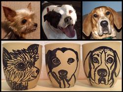 Custom Pet Portrait Samm Wehman Art coffee mugs