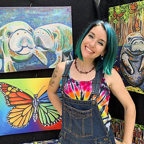 samm wehman art artist monarch butterfly manatees manatee rainbow