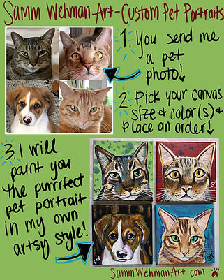 Custom pet portraits