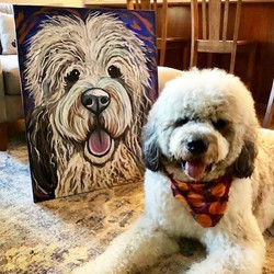Bo with his large portrait