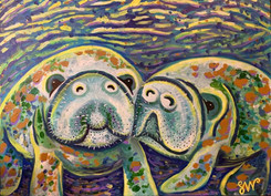 """""""Manatees"""" on loan to Alachua County and on display in their Jack Durrance Boardroom"""