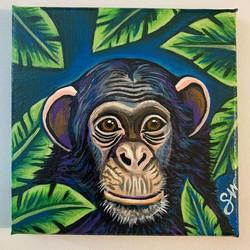 custom chimp painting