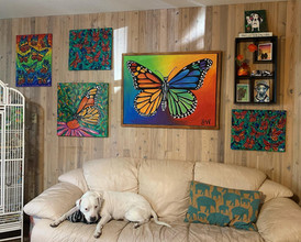 Living Room Gallery Wall - Monarchs