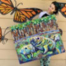 samm wehman art manatee acrylic painting butterflies monarchs monarch butterflyart artist