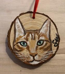 Wood cookie ornament