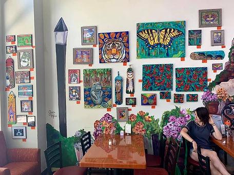 samm wehman art flour pot bakery art display newberry florida gainesville cafe