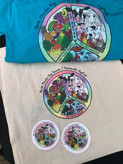 Gainesville Vegfest official T-shirts and sticker designs