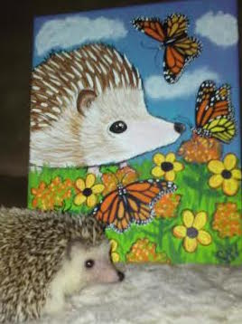 Custom Pet Portrait Samm Wehman Art Hedgehog
