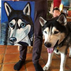 Husky painting art Custom Pet Portrait Samm Wehman Art