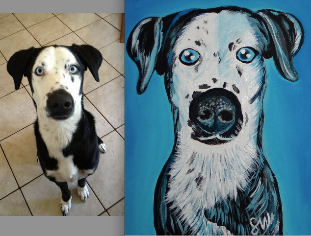 Custom Pet Portrait Samm Wehman Art