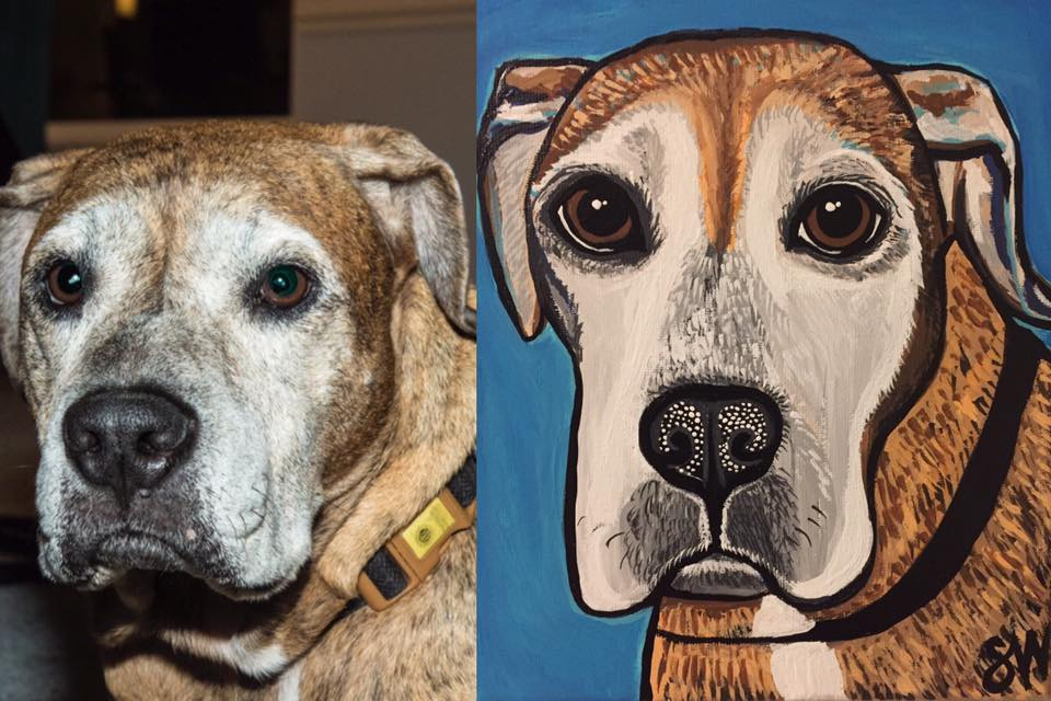 Bulldog Custom Pet Portrait Samm Wehman Art