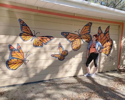 Butterfly Garage Mural