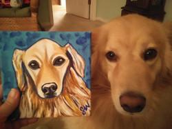 Golden Retriever Custom Pet Portrait Samm Wehman Art
