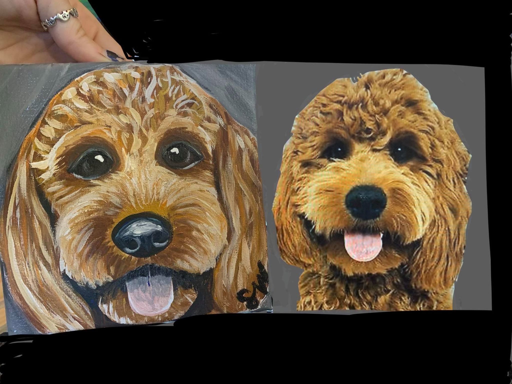 Golden Doodle Custom Pet Portrait Samm Wehman Art