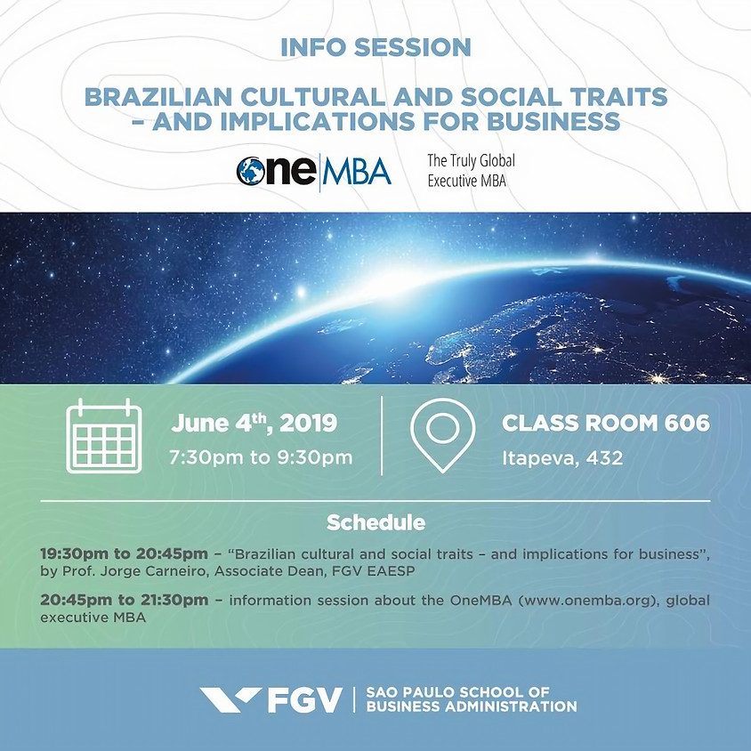 Info Session - Brazilian Cultural and Social Traits - and Implications for Business