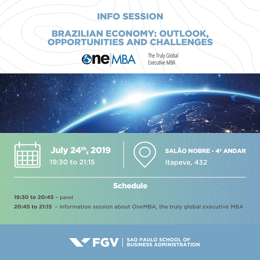 Info Session - Brazilian Economy: Outlook, Opportunities and Challanges