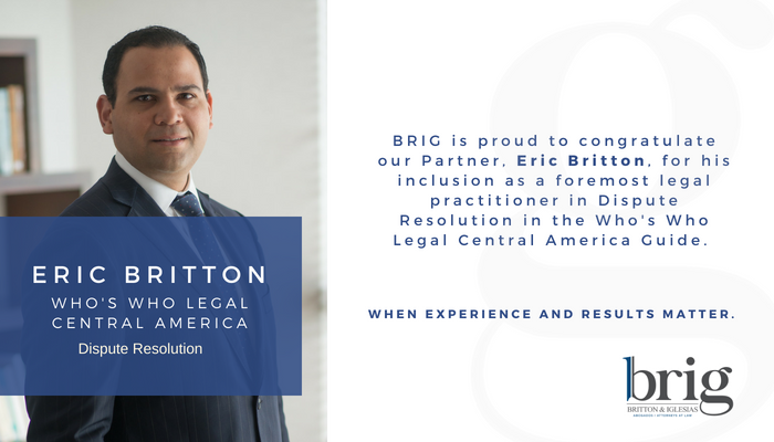 Eric Britton, Socio especialista en Litigios, Arbitraje y Derecho de la Construcción