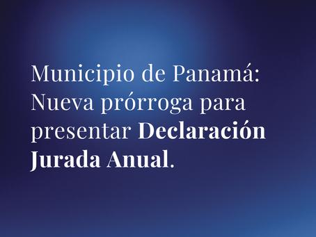 Nueva prórroga para presentación de Declaración Jurada Anual del Municipio de Panamá