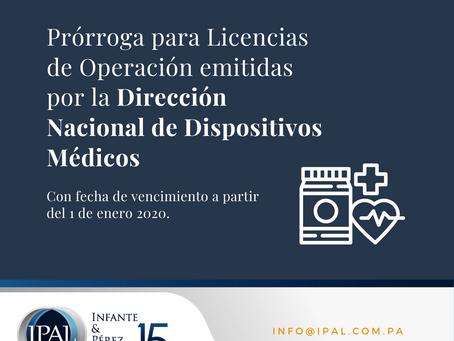 Licencias de Operación emitidas por la Dirección Nacional de Dispositivos Médicos