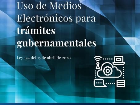 Nueva Ley de Uso de Medios Electrónicos para trámites gubernamentales