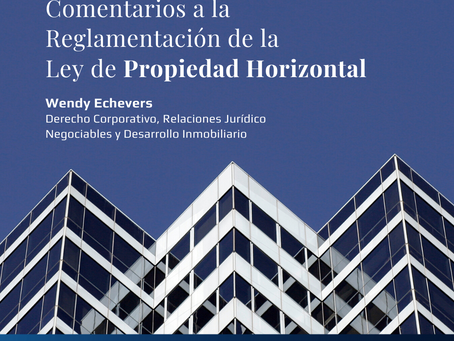 Comentarios a la Reglamentación de la Ley de Propiedad Horizontal