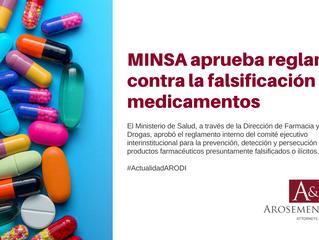Aprueban reglamento contra la falsificación de medicamentos