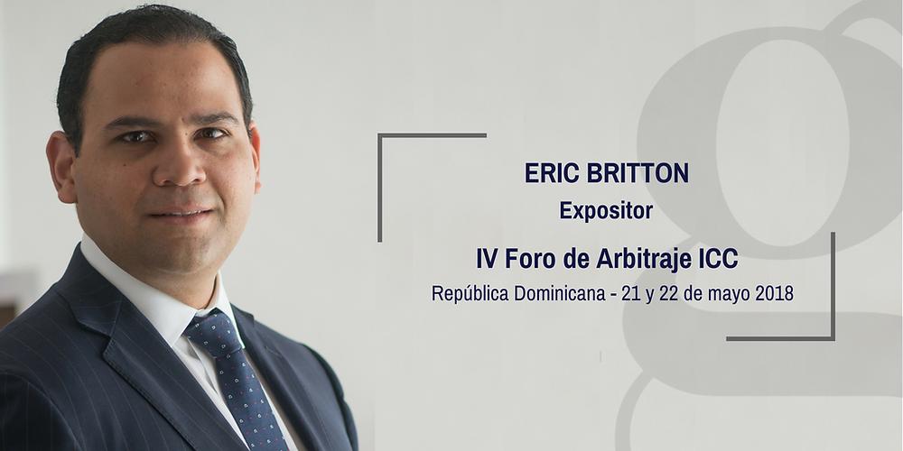 Eric Britton - Expositor Foro de Arbitraje ICC 2018