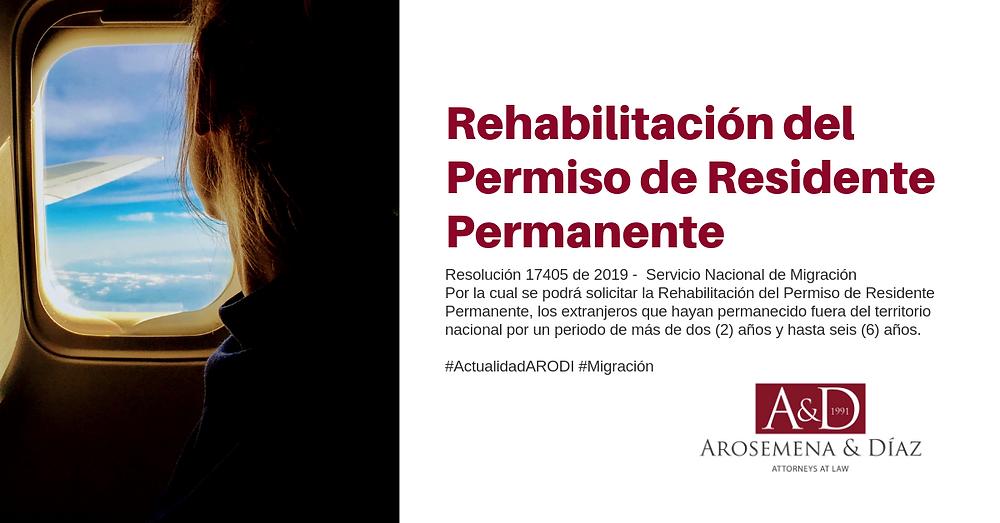Rehabilitación del Permiso de Residente Permanente