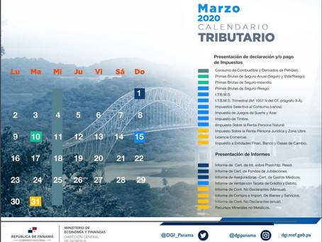 Calendario Tributario - Marzo 2020