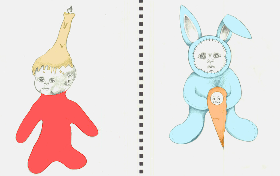 Candle Doll and Rabbit Doll, 2019