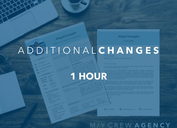 Additional CV and/or Cover Letter Changes