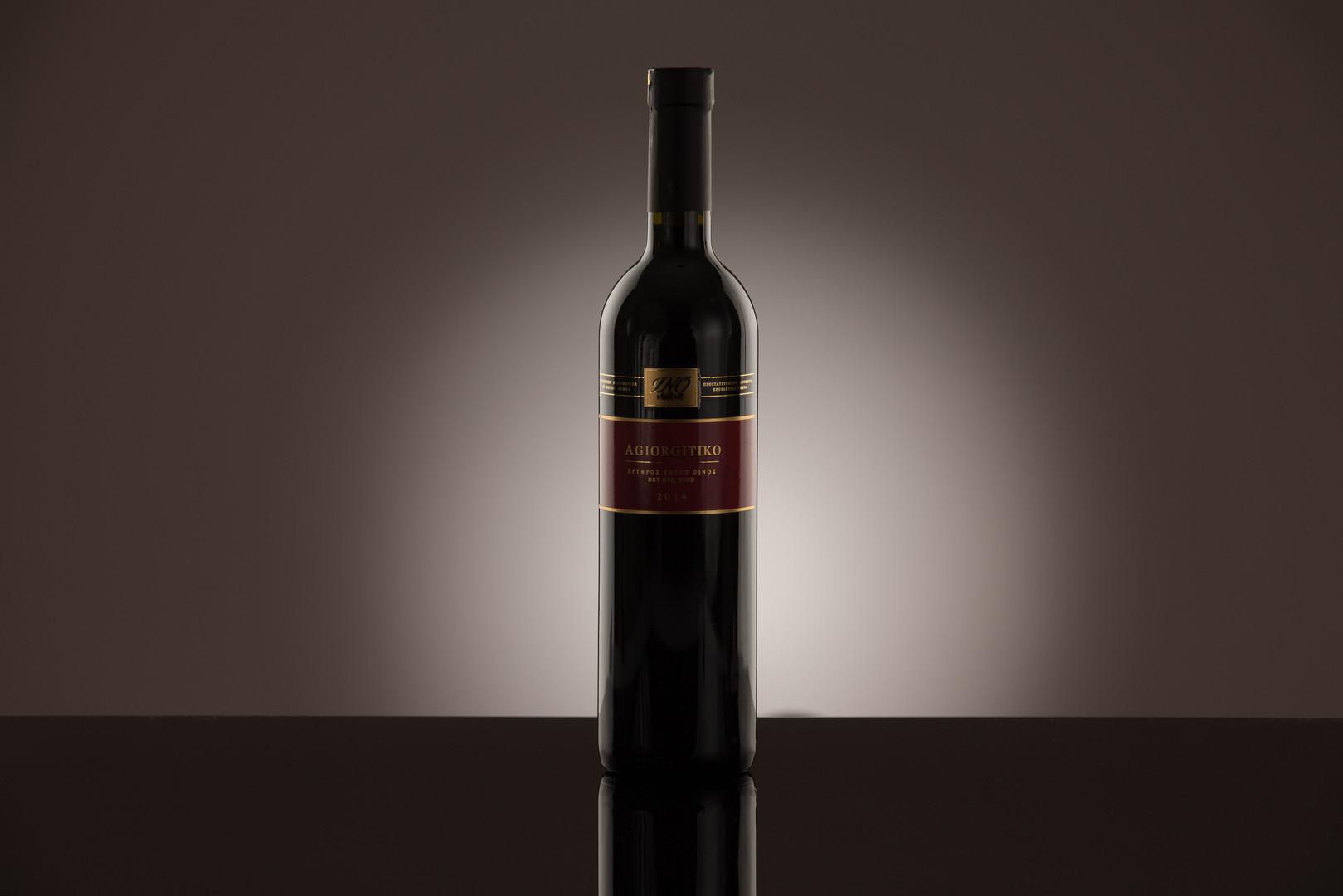 product photography bottle of wine