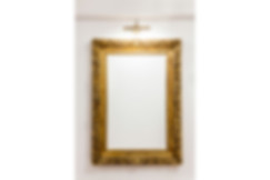 golden frame on white wall