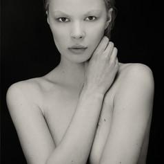 glamour model posing