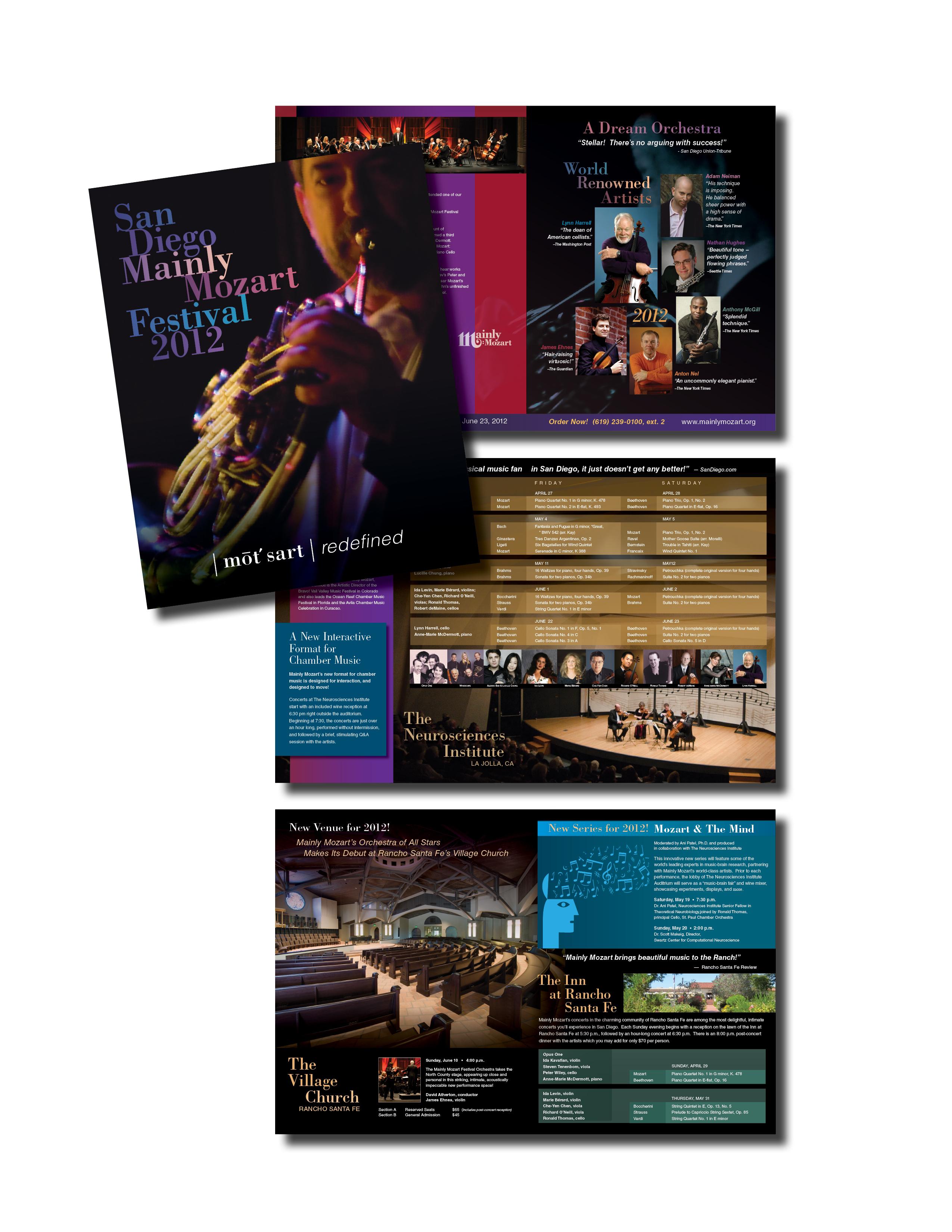 Mainly Mozart 2012 Festival Brochure