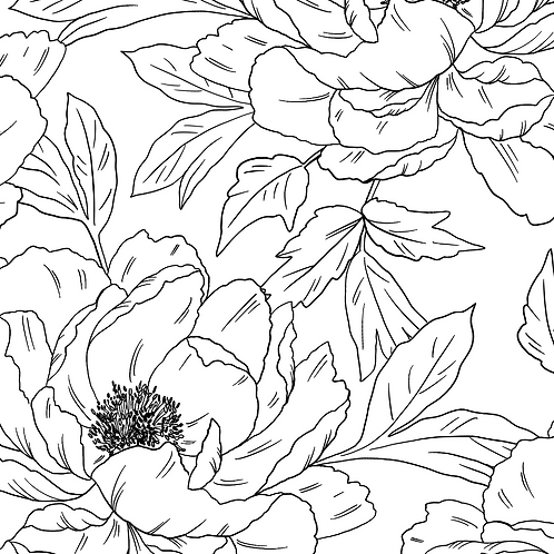 Colour me in - Peony