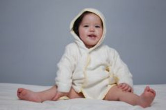 Hooded  baby robe